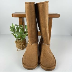 Tall Boho Faux Suede Lined Knee Boots - Size 42